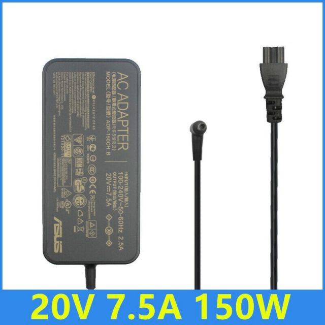 Sạc laptop Asus 20V - 7.5A - 150W Chân kim nhỏ 6.0 x 3.7 mm